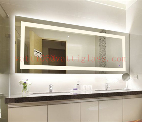 Top Quality Illuminated Ip44 Waterproof Led Bathroom Mirror Attached Light Led Mirror Light Buy Bathroom Mirror With Light Led Frameless Mirror Led Mirror Lamp Bathroom Mirror Bathroom Mirror Mirror Wall Mirror Decorative Mirror