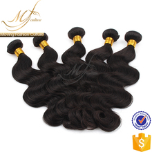 OEM manufacturers natural color virgin body wave brazilian hair bundles