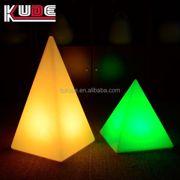 Pyramid Lamp Shape Battery Operated Led Decorative Night For Wedding Event
