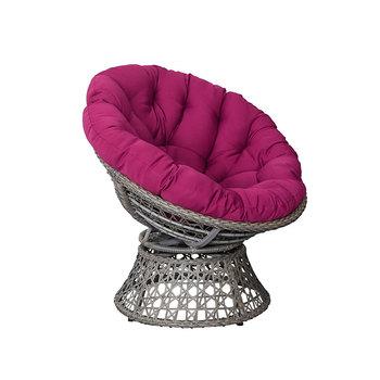 Big Lots Mid Century Modern Metal Frame Swivel Bowl Pink Papasan Chair