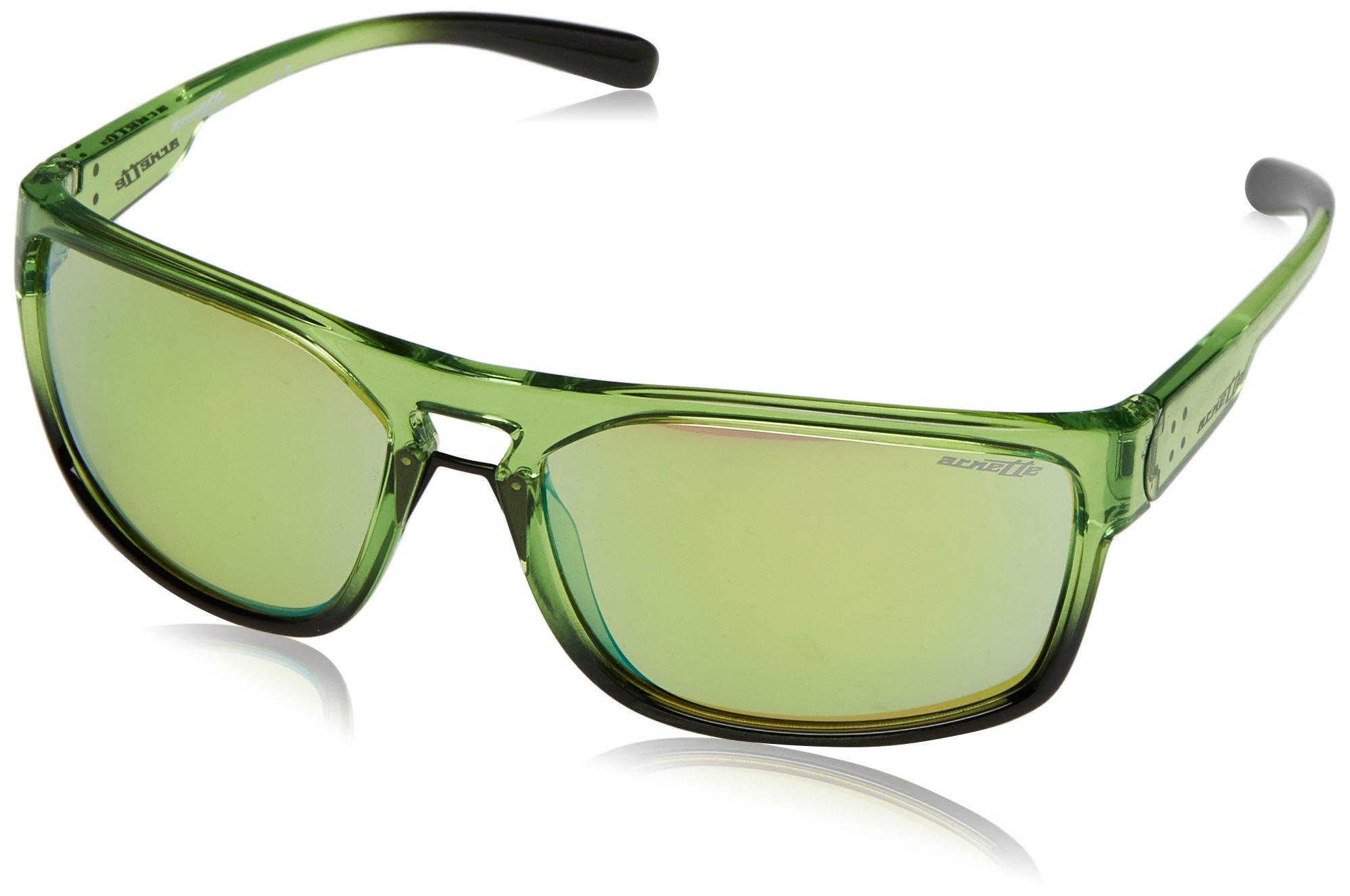 5674c6a1e4f Get Quotations · Arnette Men s Brapp Non-Polarized Iridium Rectangular  Sunglasses