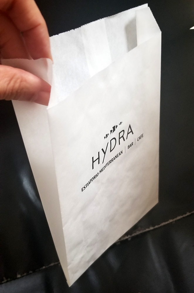 grease proof paper bag with your own logo