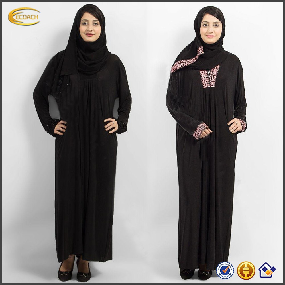 black chiffon arabian style dresses for women