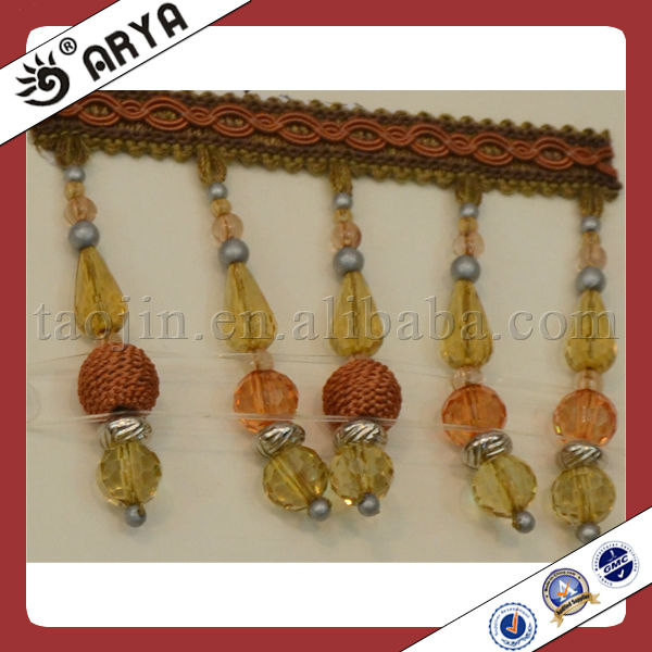 Beads Curtain Fringes and Trim Tassel for Curtain,Sofa,Valance,Trapery,Slip Cover and Cushion Cover