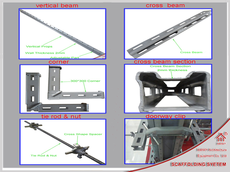 New Construction Steel Concrete Shear Wall Formwork System Replace Wood -  Buy Concrete Wall Formwork,Wall Formwork,Shear Wall Formwork Product on