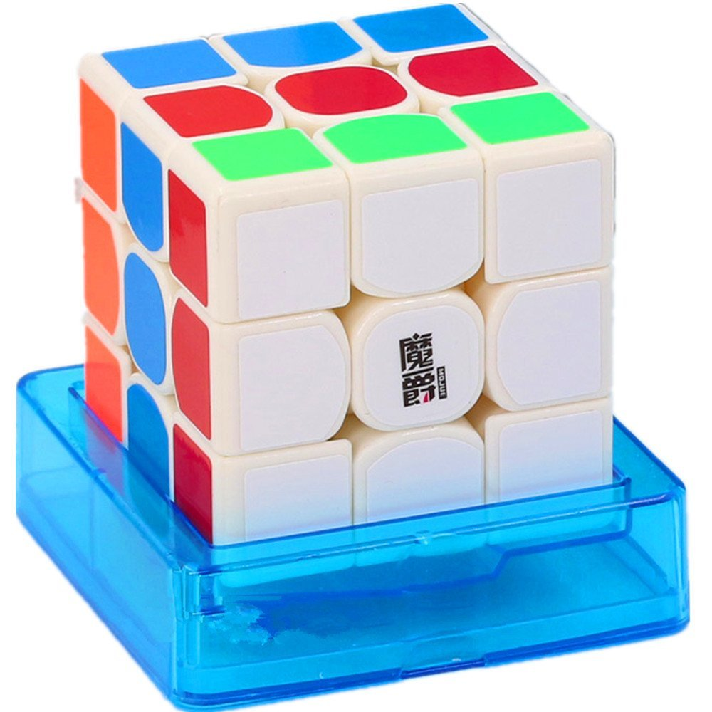 CuberSpeed MoJue M3 White 3x3 Speed cube Moyu Mojue M3 3x3x3 White Magic cube Puzzle
