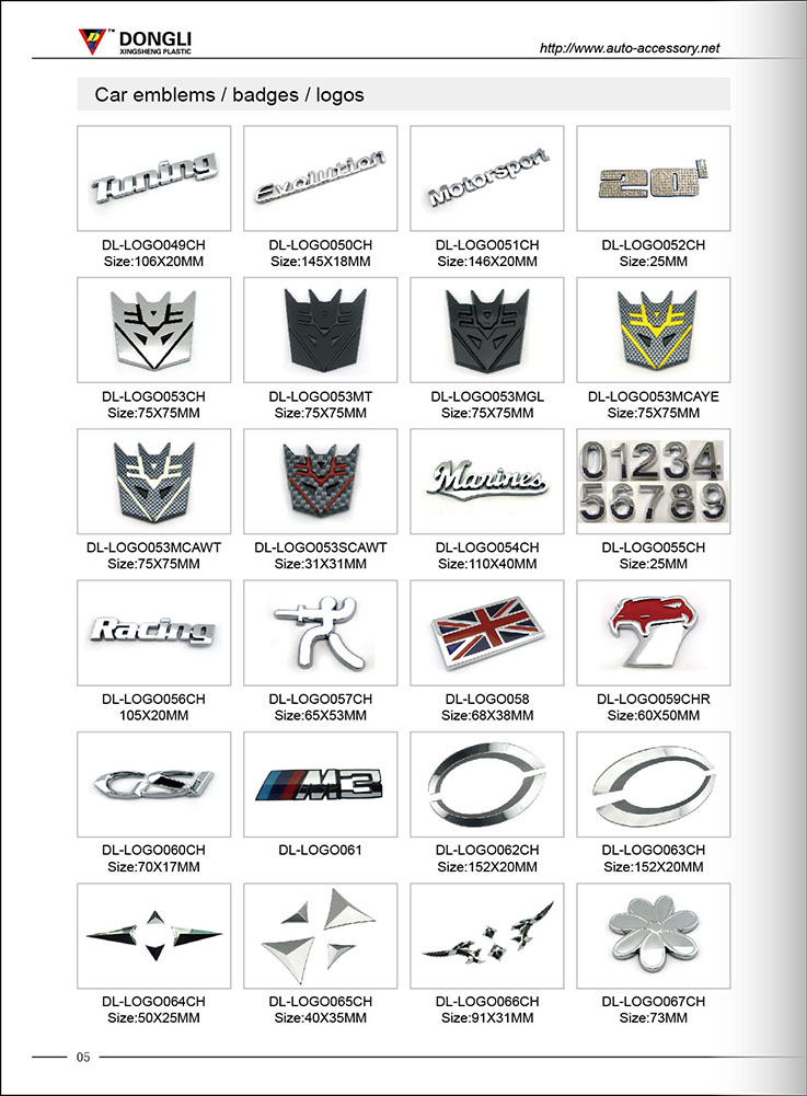 Custom Car Logo Design Chrome Car Logo Signs Foreign Car Logo And
