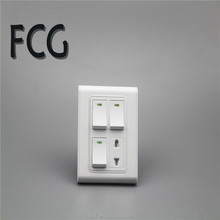 low-voltage switch and socket 3 gang+1 socket
