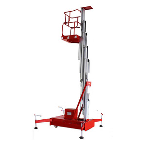 Mobile push around personal lift vertical mast lift manual electric single  person portable one man lift for sale