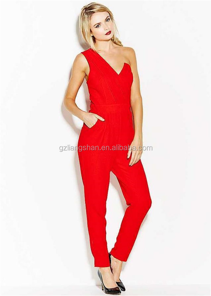 Jumpsuit Manufacturer Korean Fashion Jumpsuit Single Shoulder V ...