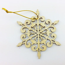 Teda craft 3mm birch wood christmas ornaments with tnt