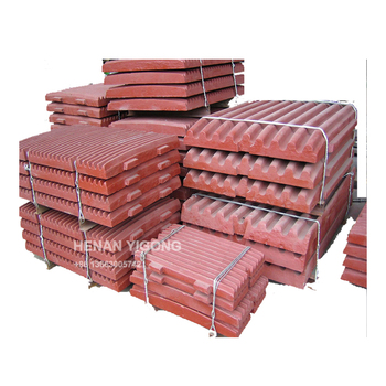 High Chromium Manganese Steel Fixed Jaw Plate For Crusher