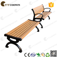 High quality wood plastic composite wpc garden bench for outdoor use and decoration
