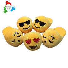 PP cotton plush emoticon indoor winter kids slipper