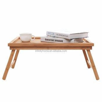 Folding Portable Wooden Laptop Computer Writing Standing Desk