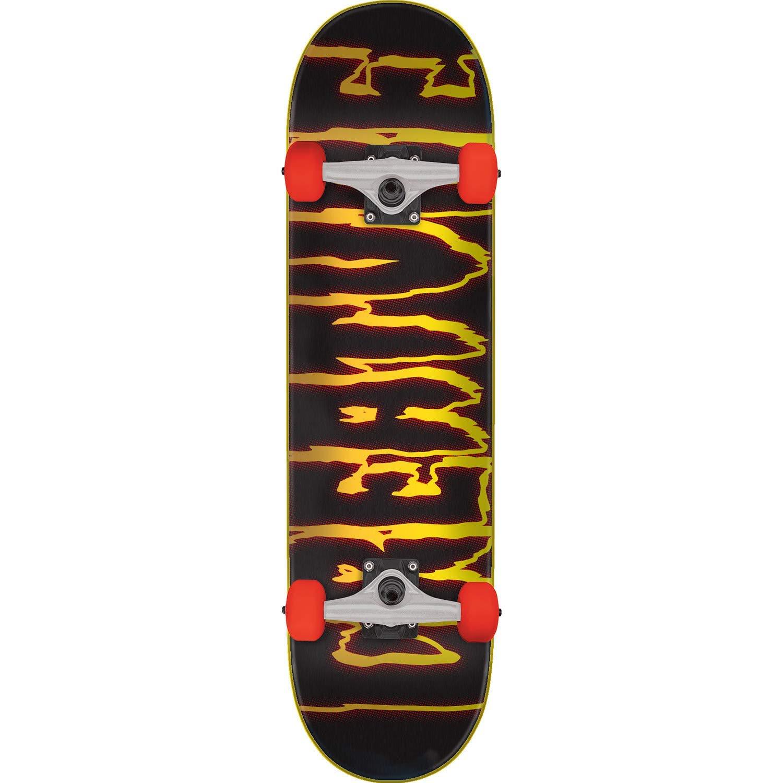 """Creature Skateboards Rev Logo Black/Orange Complete Skateboard - 7.75"""" x 31.4"""""""