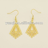 18K gold plated Indian middle east style stainless steel golden earring designes for women