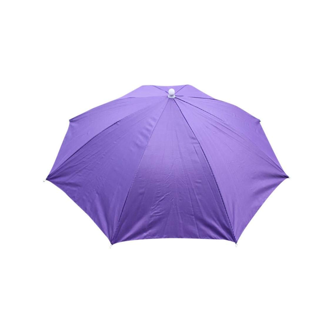 a58e82563e5f2 Get Quotations · Belloc Umbrella Hat - Diameter Elastic Band Umbrella Cap  Folding Sun Rain Hat for Outdoor Golf