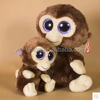 Big Eyes Cute Monkey Plush Toy 2016 Mascot Monkey Toy Stuffed Brown