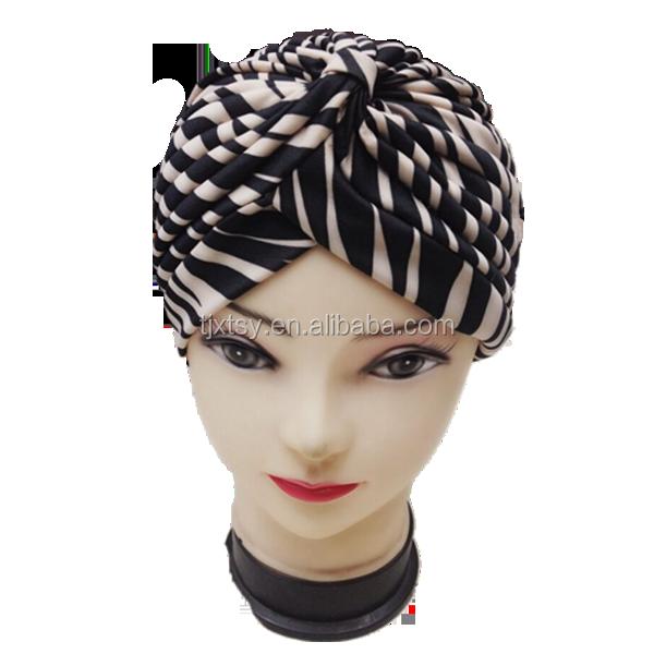 Kustom rambut bonnet lintas topi puggaree chambray satin bonnet turban  india arabic islamic topi jilbab 5c8439b6a4fc