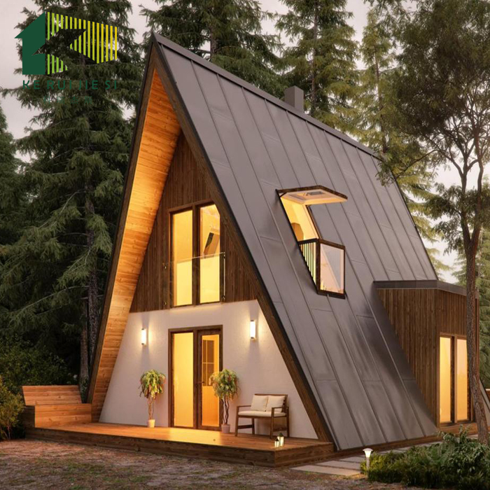 New Style Triangle Prefab Resort Holiday Beautiful Wooden