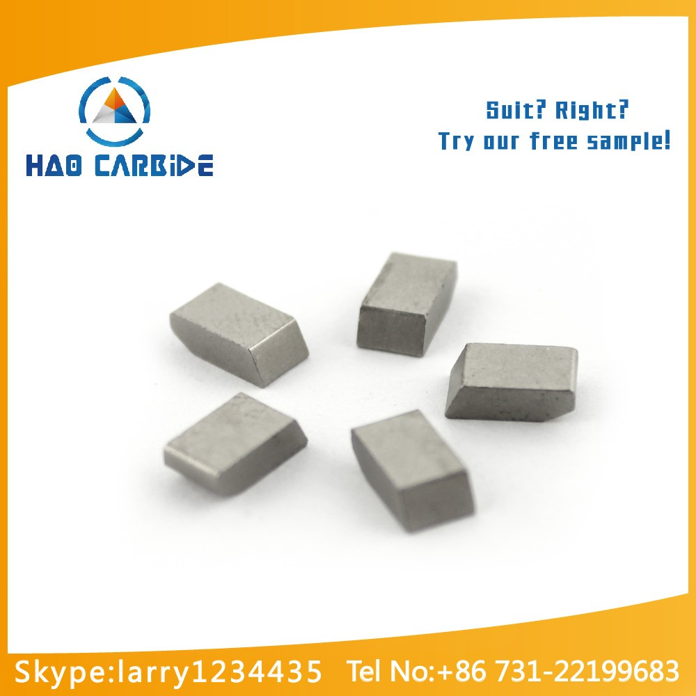 cemented carbide saw tips, tungsten carbide YG6X saw tips