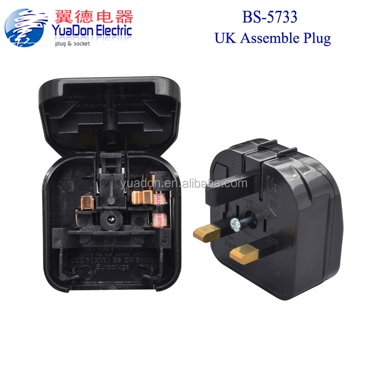 Factory BS5733 fused travel adapter EU to UK Plug adaptors Manufacturer