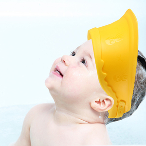 New products colorful shower cap silicone rubber kids safe shampoo cap