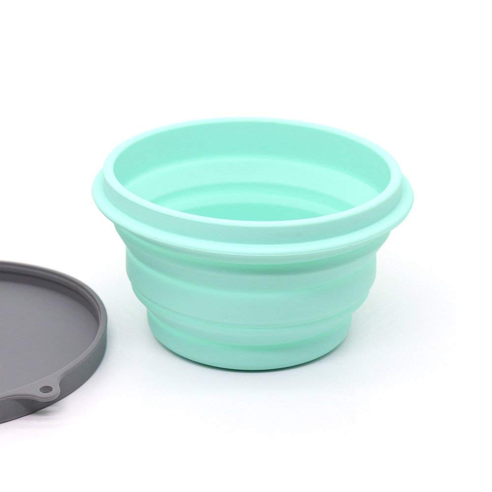 Ecoart Silicone Collapsible Cup and Bowl Set with Spork for Camping Hiking 100/% Food-Grade FDA Approved BPA Free