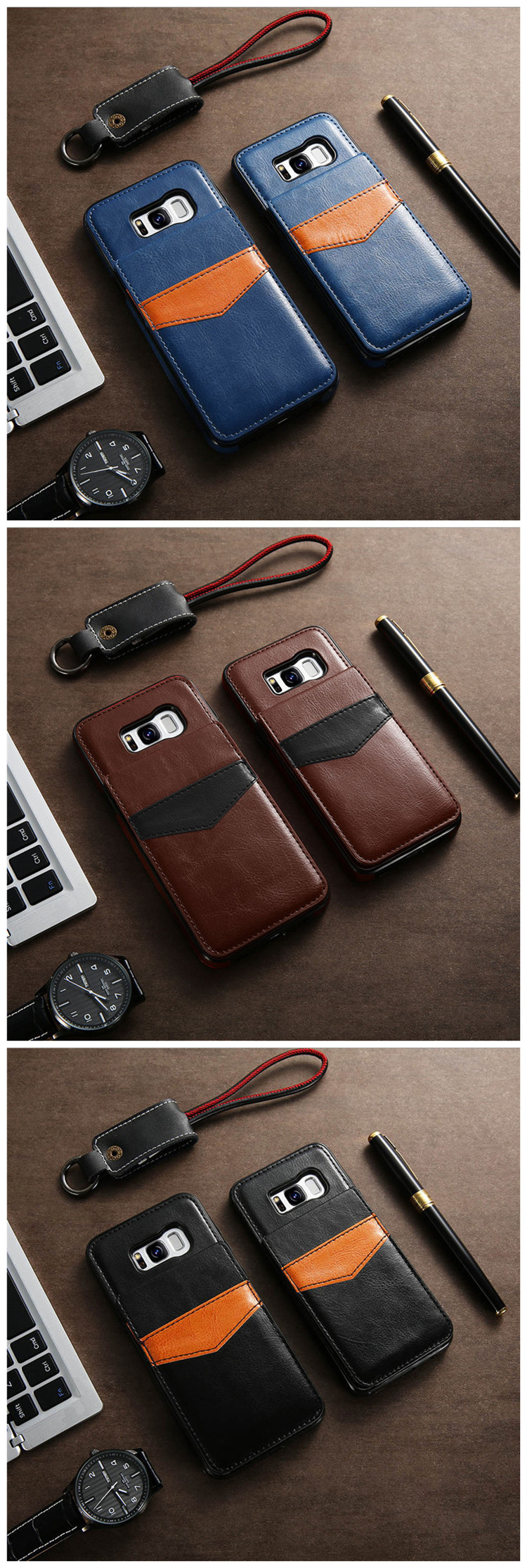 KISSCASE Leather flip Case For iPhone X 6 7 8 Plus XS Max Xr Card Holder Case For Samsung Galaxy S8 S9 Plus Note 9 8 Cover