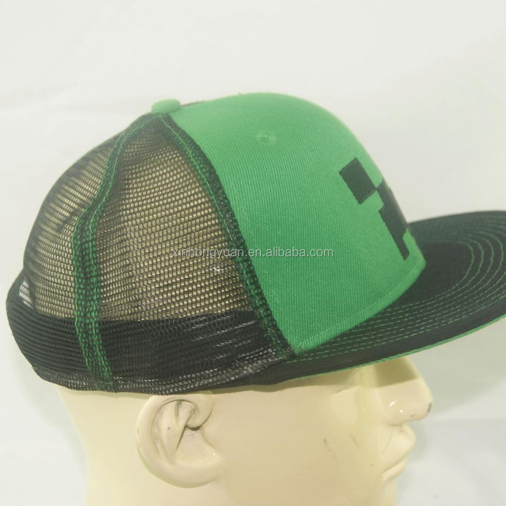 Custom Hats Snapback Baseball Cap Without Brim With Green Under Brim ... c8f91bc23b3