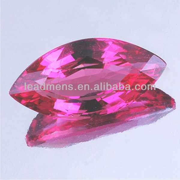 rose red marquise cut corundum Cubic Zirconia cz stone synthetic Gemstone Beads LeadMens quality goods