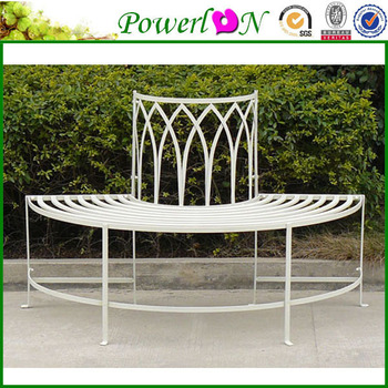 Classic Vintage Wrought Iron Decorative Garden Bench For Outdoor Furniture  I21 TS05 X11B PL08 8673CP2