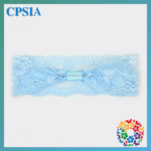 Light Blue Baby Blue Elastic Lace Band 2014 Kids School Hair Accessories