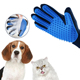 Blue massage waterproof pet grooming glove,dog grooming glove