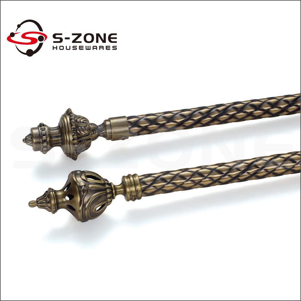 28mm Antique Bronze Stretch Flat Curtain Rod