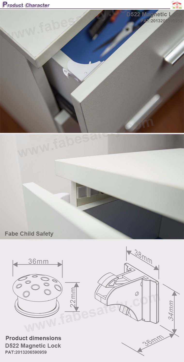 Child Safety For Cabinets Fabe D522 Hidden Baby Child Kids Safety Magnetic Cabinet Locks
