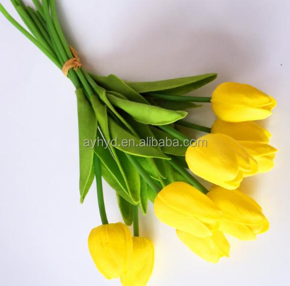 China manufacture PU scented artificial flower tulip