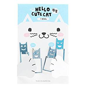 BuW Cute Cat Stainless Steel Bookmarks (4-Pack), cool office supplies desk accessories office essentials