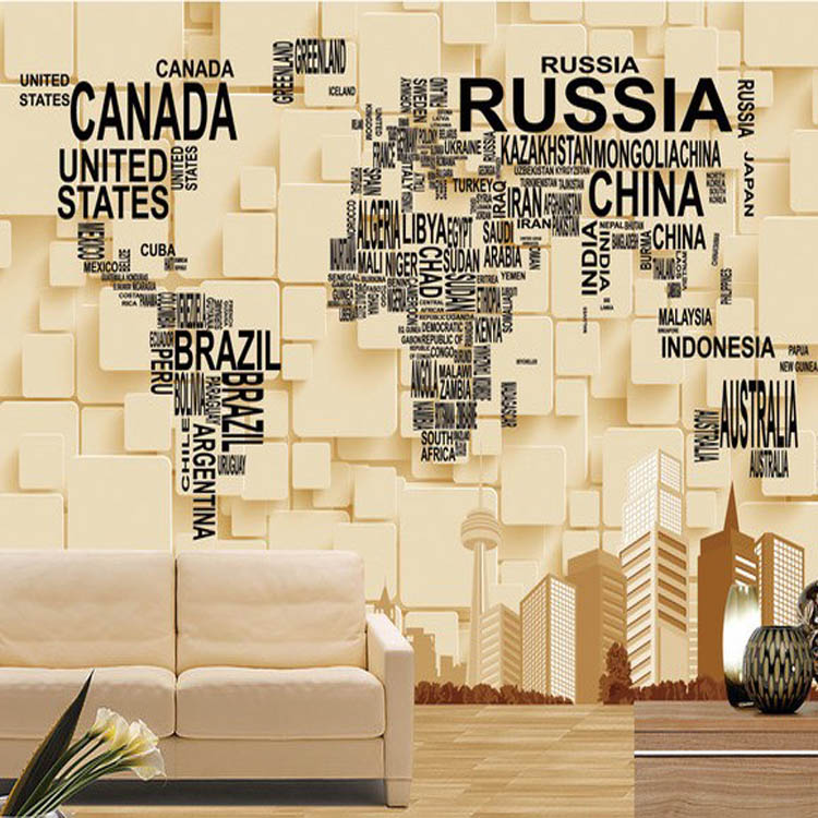 No Pollution Hot Seller Vinyl Wallpaper World Map Magic Color For - Us map no color