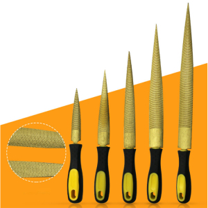 Hand Tool Gold Round and Half Round Flat Woodworking Rasps and Files