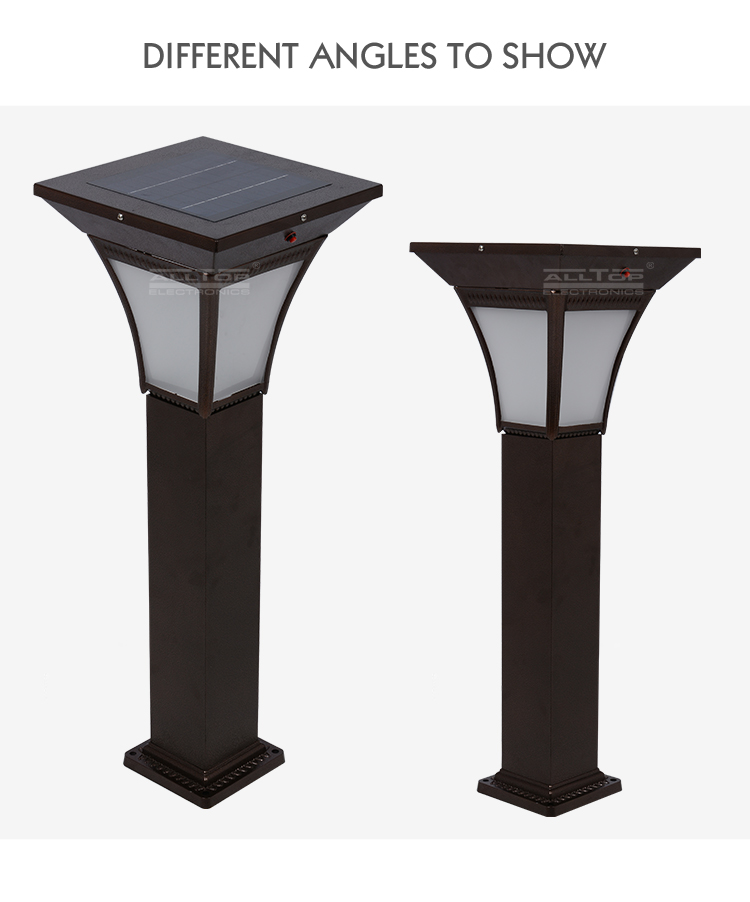 High quality IP65 outdoor courtyard 4w solar led garden light