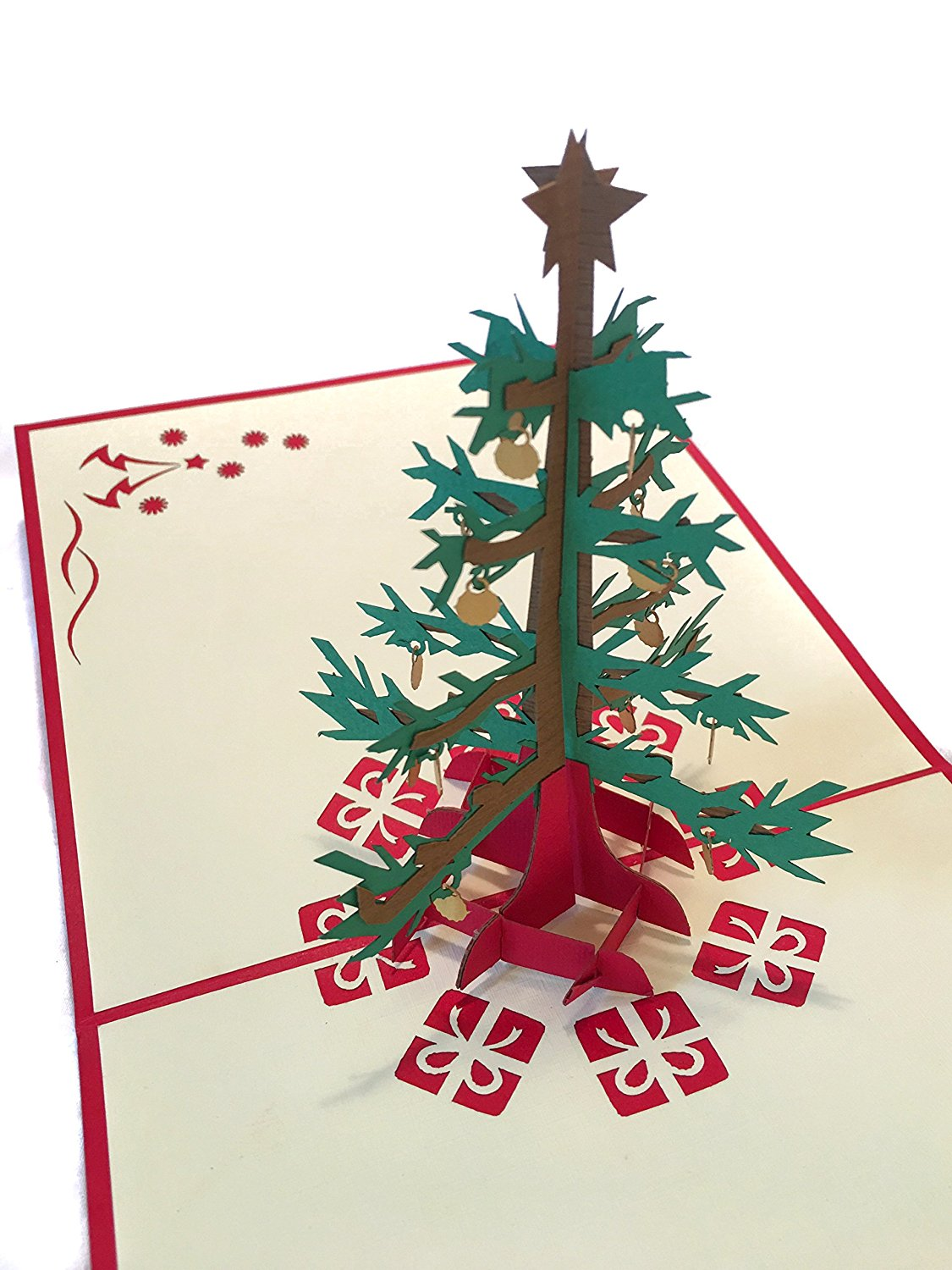 Buy PopLife Christmas Tree 3D Pop Up Holiday Greeting Card - For ...