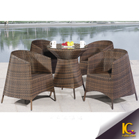 hand knit weaving plastic rattan coffee set furniture / garden leisure