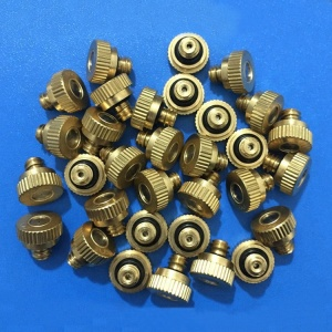 Brass Mist Nozzles Threaded Misting Fogging Spray Water Sprinkler Head 0.2-0.5mm Nozzle