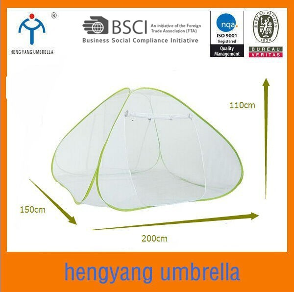 200*150*110cm Mosquito resist net pop up bed tent mesh dome tent wholesale