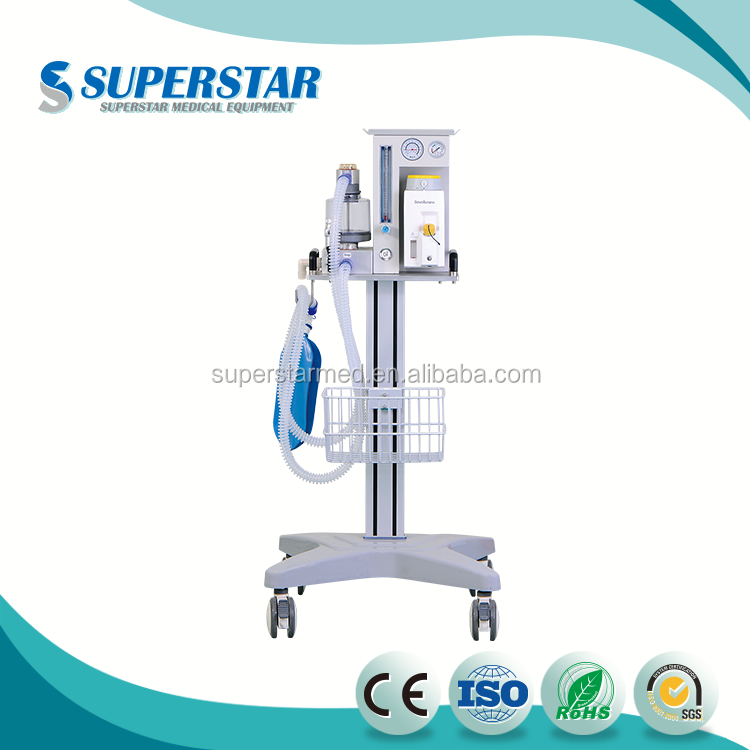 2017 Hot-Selling Hospital Movable Veterinary Anesthesia Machine Wth Ventilator