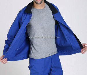OEM Unisex Blue Workwear Jacket with Waterproof and Windbreaker Coat