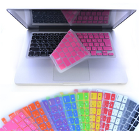 Silicone EU UK Russian Clear Colorful Keyboard Protective Film Cover for MacBook Air Pro Retina 11 inch 13inch 15inch