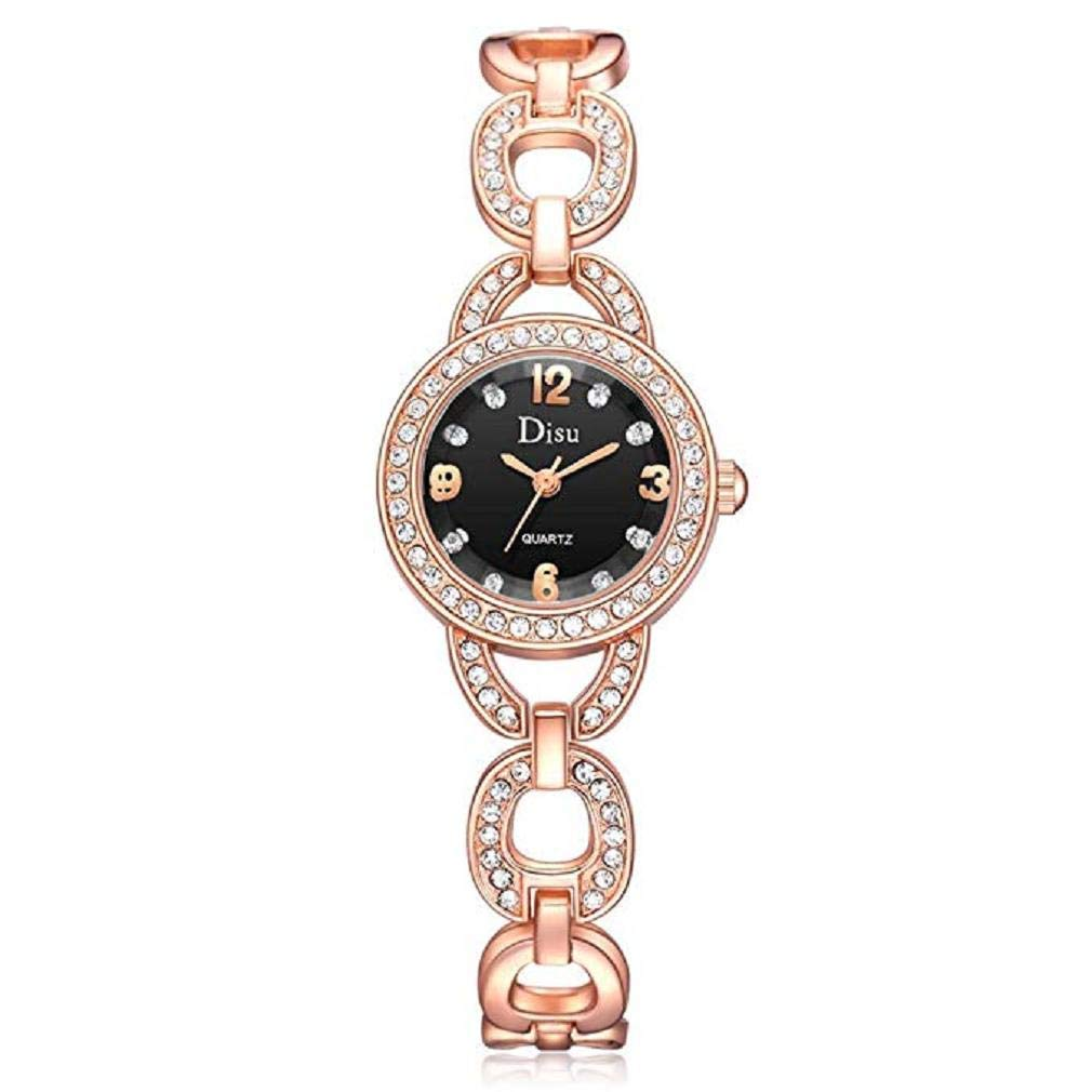 Womens Watches,Windoson Women's Ladies Teen Girls Dress Rhinestone Bracelet Wrist Quartz Watch Casual Simple Analog Quartz Watches Classic Wristwatch (A)